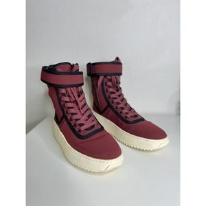 Fear of God red military boot sneakers | 37